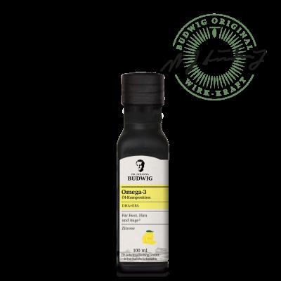 Omega-3 DHA+EPA Öl Zitrone (100 ml)