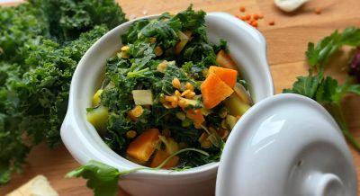 Orientalische Grünkohlsuppe