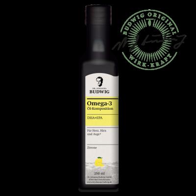 Omega-3 DHA+EPA Öl Zitrone (250 ml)