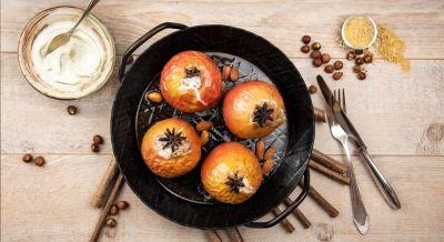 Bratapfel mit Budwig Creme Vanille