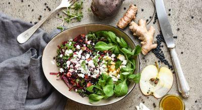 Fruchtiger Belugalinsen-Salat
