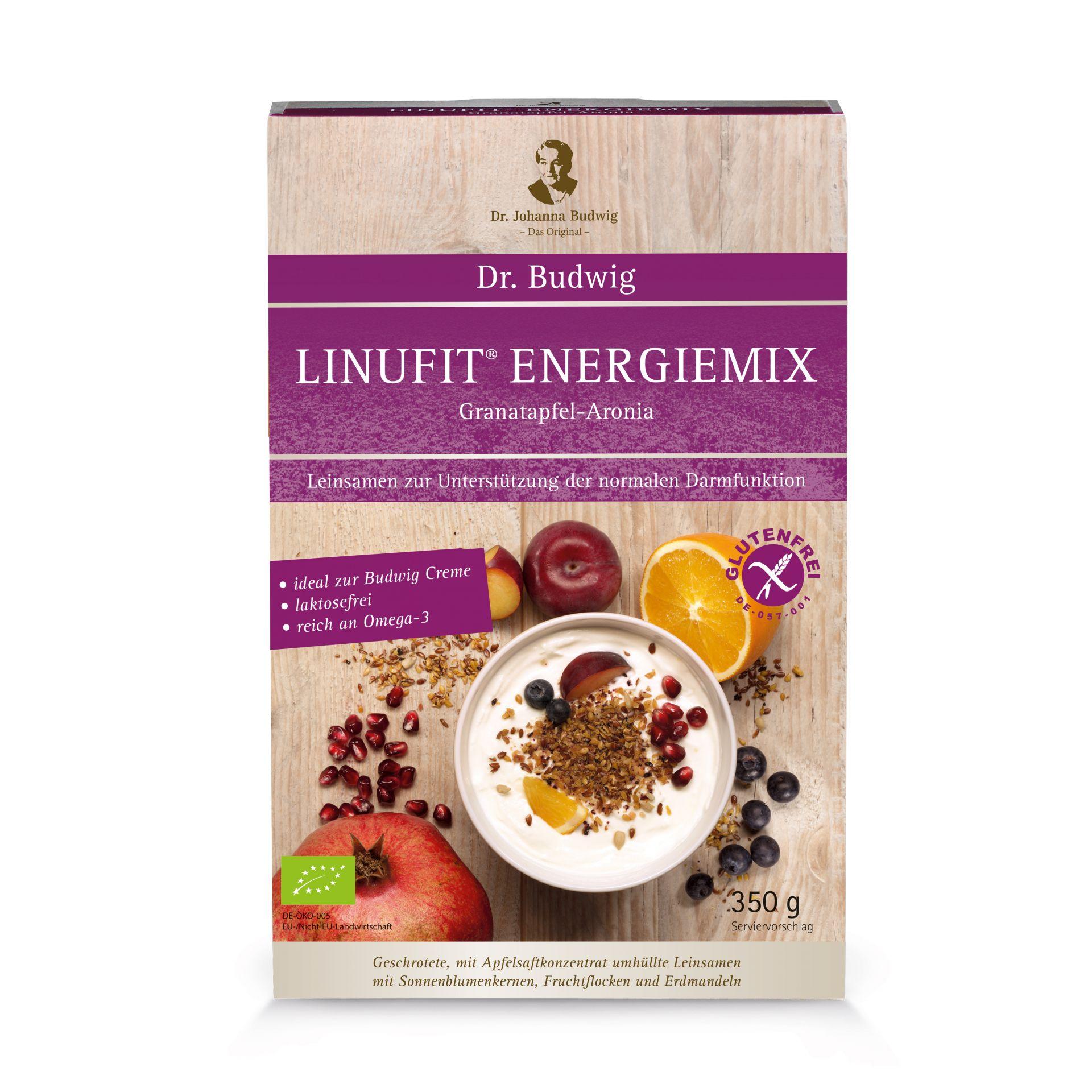 Dr. Budwig Linufit Energiemix Granatapfel-Aronia