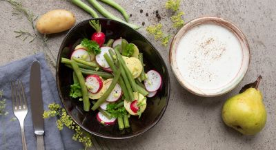 Bohnen-Kartoffelsalat